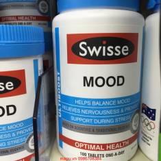 Swisse Ultiboost Mood giúp giảm bồn chồn,lo lắng, cân bằng tâm lý