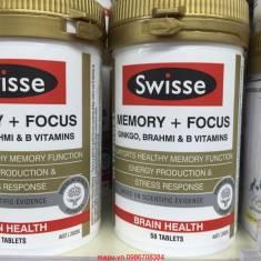 Thuốc bổ não, tăng cường trí nhớ Swisse Ultiboost Memory + Focus