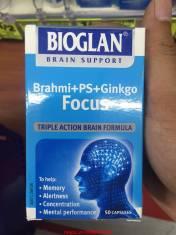 Brahmi + PS + Ginkgo Focus Bioglan giúp tuần hoàn não , tăng trí nhớ , sự tập trung.
