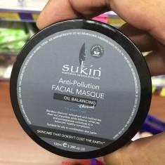 Mặt nạ than tre khử độc & kiềm dầu organic |sukin anti - pollution facial masque