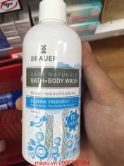 Sữa tắm cho em bé Brauer Baby Bath + Body wash 250ml