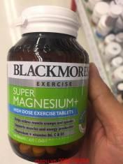 Vitamin giúp giảm đau cơ bắp, sản xuất năng lượng Blackmores Super Magnesium+ 100 viên