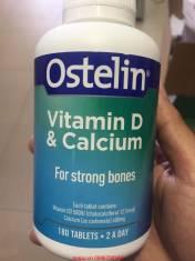 Vitamin D & Calcium hộp 180 viên của Ostelin Úc