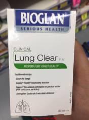 Thanh lọc phổi Bioglan Lung Clear của Úc.