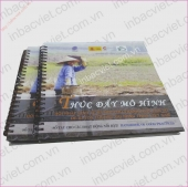IN CATALOGUE DẠNG LÒ XO GÁY