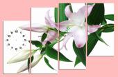 Tranh đồng hồ treo tường hoa nghệ thuật AmiA TDH119
