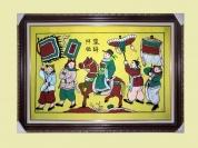 Tranh dân gian Đông Hồ khổ lớn: Vinh Quy Bái Tổ