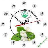 Đồng hồ tranh treo tường đẹp in Logo quà tặng doanh nghiệp - QTDN03