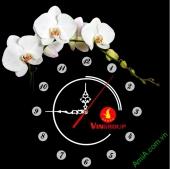 Đồng hồ tranh treo tường đẹp in Logo quà tặng doanh nghiệp - QTDN05