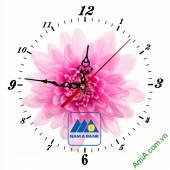 Đồng hồ tranh treo tường đẹp in Logo quà tặng doanh nghiệp - QTDN07