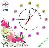 Đồng hồ tranh treo tường đẹp in Logo quà tặng doanh nghiệp - QTDN08