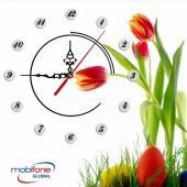 Đồng hồ tranh treo tường đẹp in Logo quà tặng doanh nghiệp - QTDN10