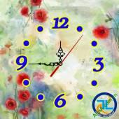 Đồng hồ tranh treo tường đẹp in Logo quà tặng doanh nghiệp - QTDN11