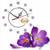 Đồng hồ tranh treo tường đẹp in Logo quà tặng doanh nghiệp - QTDN13