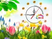 Đồng hồ tranh treo tường đẹp in Logo quà tặng doanh nghiệp - QTDN16