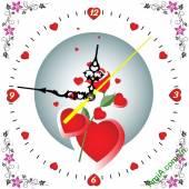 Đồng hồ tranh treo tường đẹp cho gia đình - Mẫu DHTGD-02