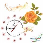 Đồng hồ tranh treo tường đẹp in Logo quà tặng doanh nghiệp - QTDN18