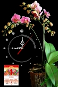 Lịch tết đẹp dạng tranh có đồng hồ cho gia đình AmiA TL47