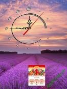 Lịch tết đẹp dạng tranh có đồng hồ cho gia đình AmiA TL48