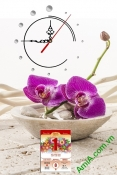 Lịch tết đẹp dạng tranh có đồng hồ cho gia đình AmiA TL53