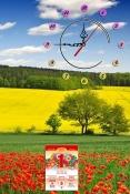 Lịch tết đẹp dạng tranh có đồng hồ cho gia đình AmiA TL39
