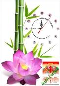 Tranh lịch tết đẹp có đồng hồ dành cho gia đình AmiA TL30