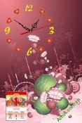 Tranh lịch tết có đồng hồ, đẹp và tiện lợi AmiA TL33