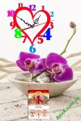 Tranh lịch tết có đồng hồ, đẹp và tiện lợi AmiA TL37
