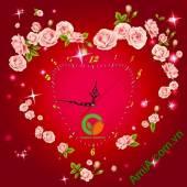 Mẫu Tranh Đồng hồ treo tường in Logo công ty làm quà tặng - QTDN19