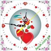 Mẫu Tranh Đồng hồ treo tường in Logo công ty làm quà tặng - QTDN20