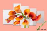 Tranh hoa Zum ghép bộ hiện đại treo phòng khách, phòng ngủ - AmiA TDH 248