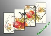 Tranh trang trí tết Xuân sung túc Amia 364