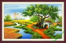 Tranh làng quê Việt Nam Amia 705
