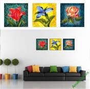 Bộ khung tranh trang trí phòng khách đẹp Amia 821