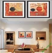 Khung tranh trang trí tường đẹp Amia 822