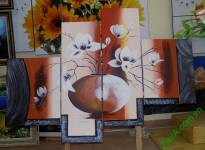 Tranh sơn dầu ghép bộ hiện đại