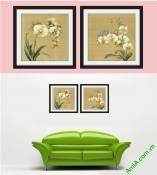 Tranh hoa lan phong cách Vintage có khung Amia 874-1