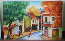 Tranh sơn dầu phố cổ Hà Nội