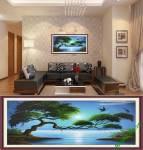 Tranh phong cảnh khung 1 tấm sông trăng Amia 900
