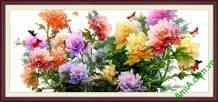 Tranh hoa mẫu đơn phú quý Amia 903