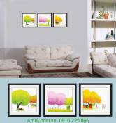 Bộ khung tranh cây sắc màu Amia 893