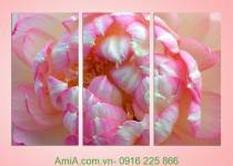 Tranh hoa sen may mắn Amia 939