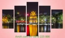 Tranh đêm hồ gươm lung linh Amia 940