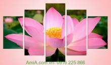 Tranh hoa sen tuyệt đẹp trang trí nhà đẹp Amia 941