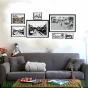 Bộ khung tranh đen trắng đặc biệt Hà Nội xưa Amia 9999