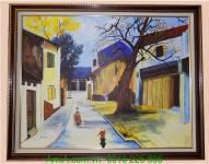 Tranh sơn dầu phố cổ Hà Nội TSD113