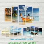 Tranh phong cảnh bãi biển  Pranang Thái Lan Amia 961
