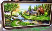 Tranh sơn dầu phong cảnh cuộc sống thanh bình TSD123
