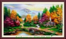Tranh phong cảnh mùa thu vẽ sơn dầu TSD180