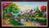 Tranh sơn dầu phong cảnh đẹp ở nước ngoài TSD 187